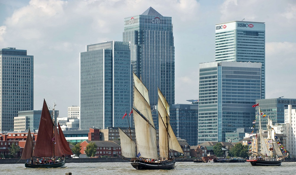 Tall ships in London