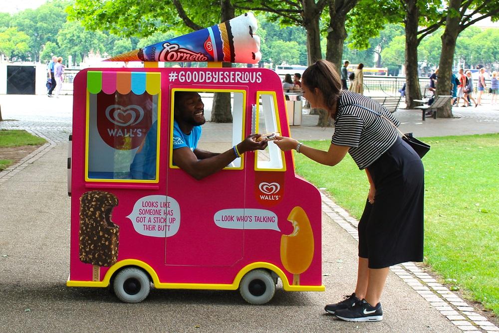 Walls ice cream in Clapham