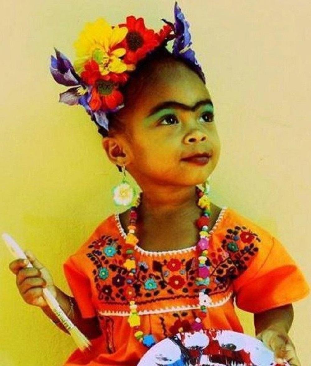 Dress your child up like Frida Kahlo!