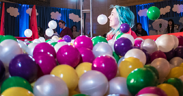 Ben & Jerry's Swirling Birthday Ball Pit