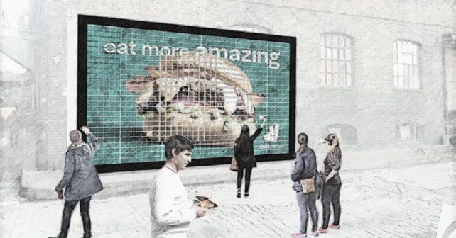Deliveroo billboard